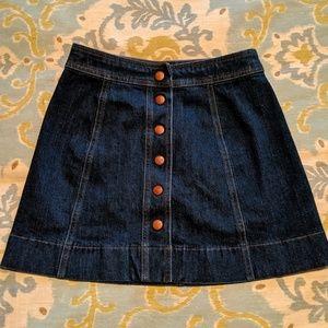 Madewell denim mini skirt size 2